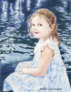 Portrait of a girl by the water