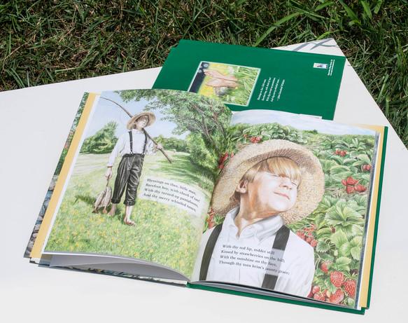 John Greenleaf Whittier's The Barefoot Boy interior book