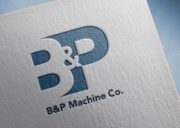 B&P Machine Co. Logo design