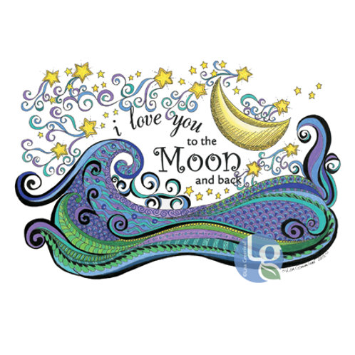 I Love you to the Moon and Back—12 x 9 Print