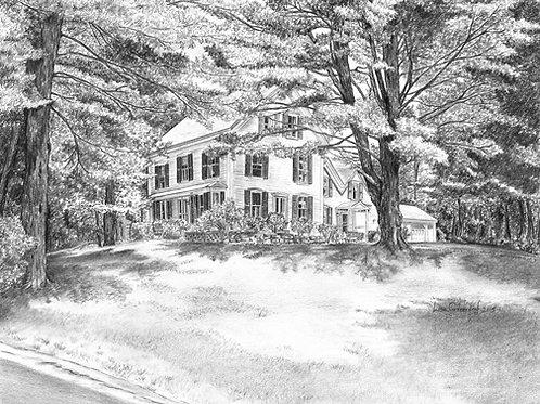 The Farm c.1870, Ossipee, NH— 16 x 14, giclée print