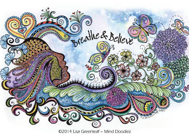 Breathe & Believe doodle