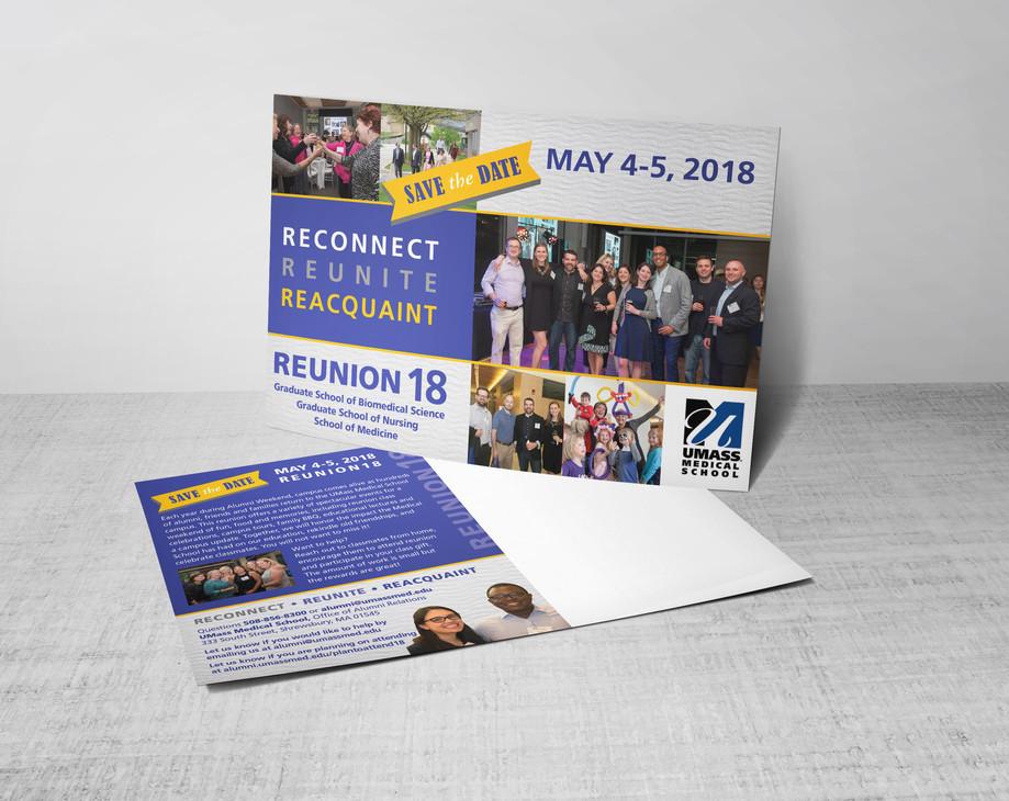 UMass 2018 Reunion Save The Date  Postcard