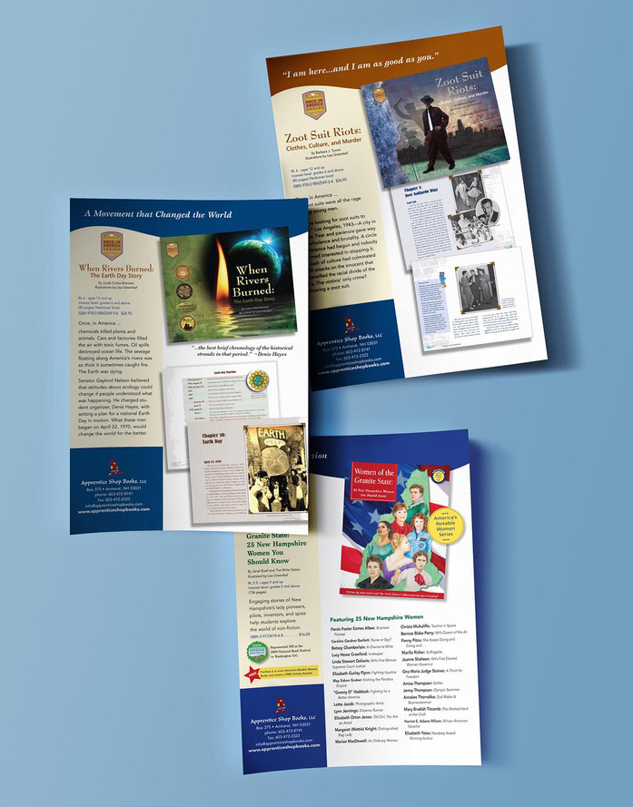 Apprentice Shop Books product brochures