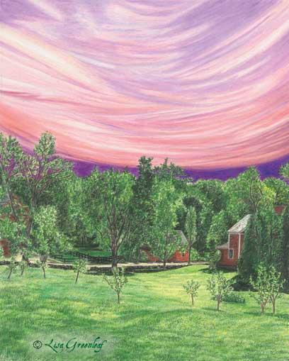 Purple Ribbon Sky