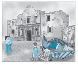 The M-Team travels to the Alamo