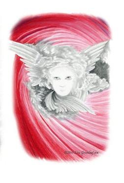 Feathers & Trumpets book interior Illustration