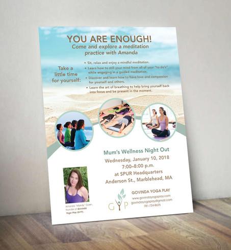 Govinda Yoga Play You Are Enough Event Flyer