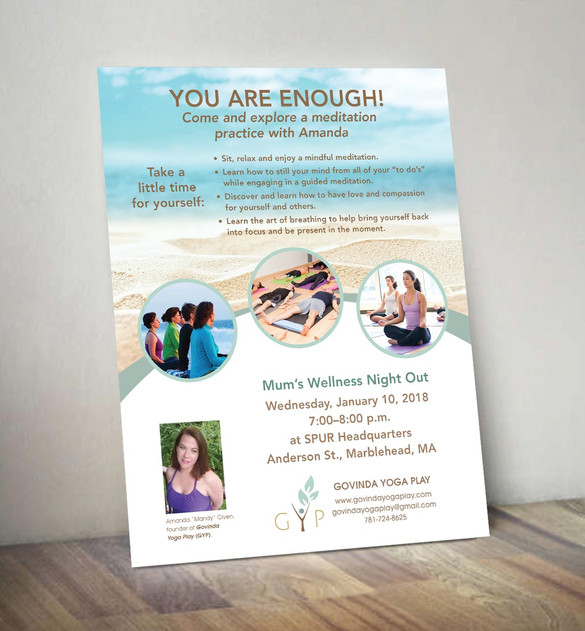 Govinda Yoga Play You Are Enough Event Flyer