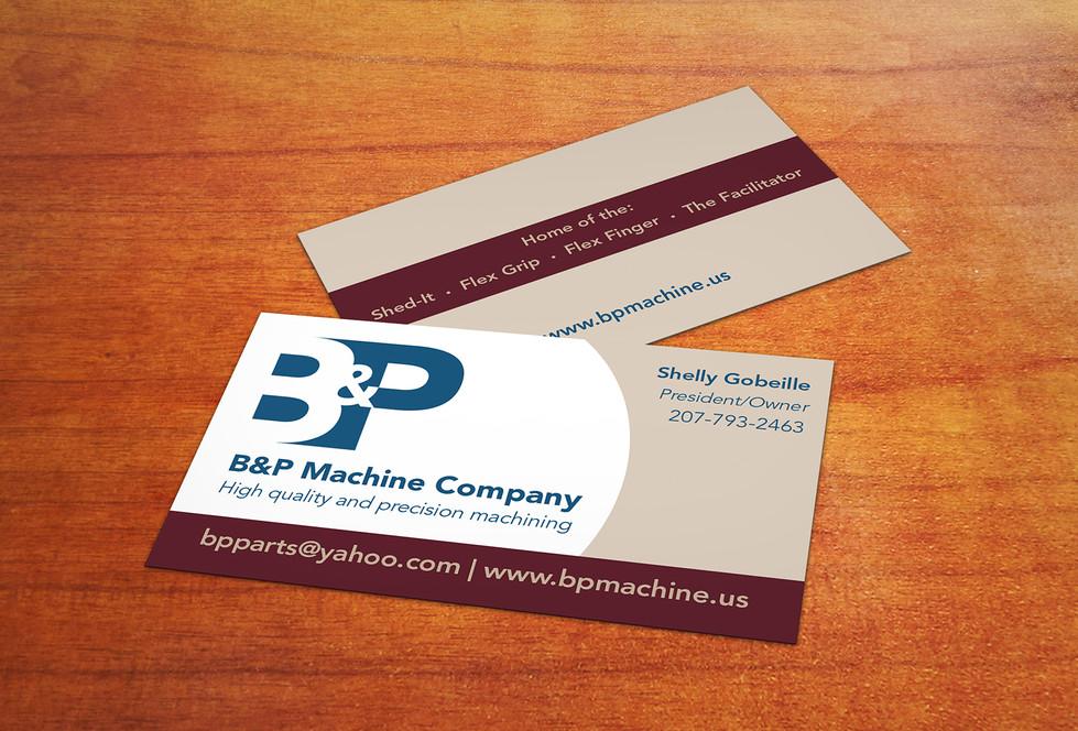 B&P Machine Company business card