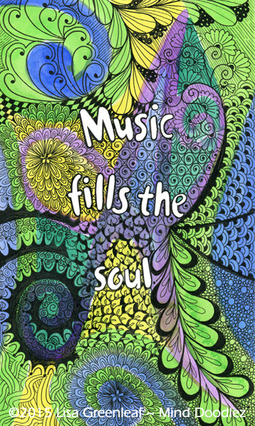 Music fills the Soul doodle