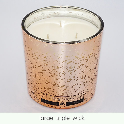 large triple wick candle