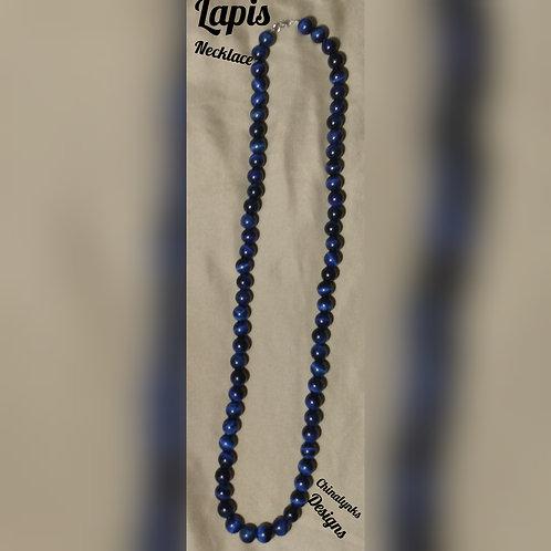 LAPIS BLUE NECKLACE