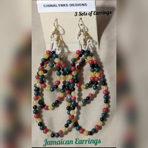JAMAICAN HOOP EARRINGS (SET of 3)