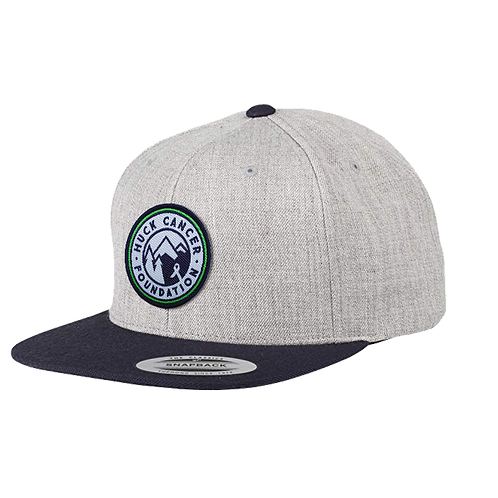 Snapback Roundel Logo Grey Cap