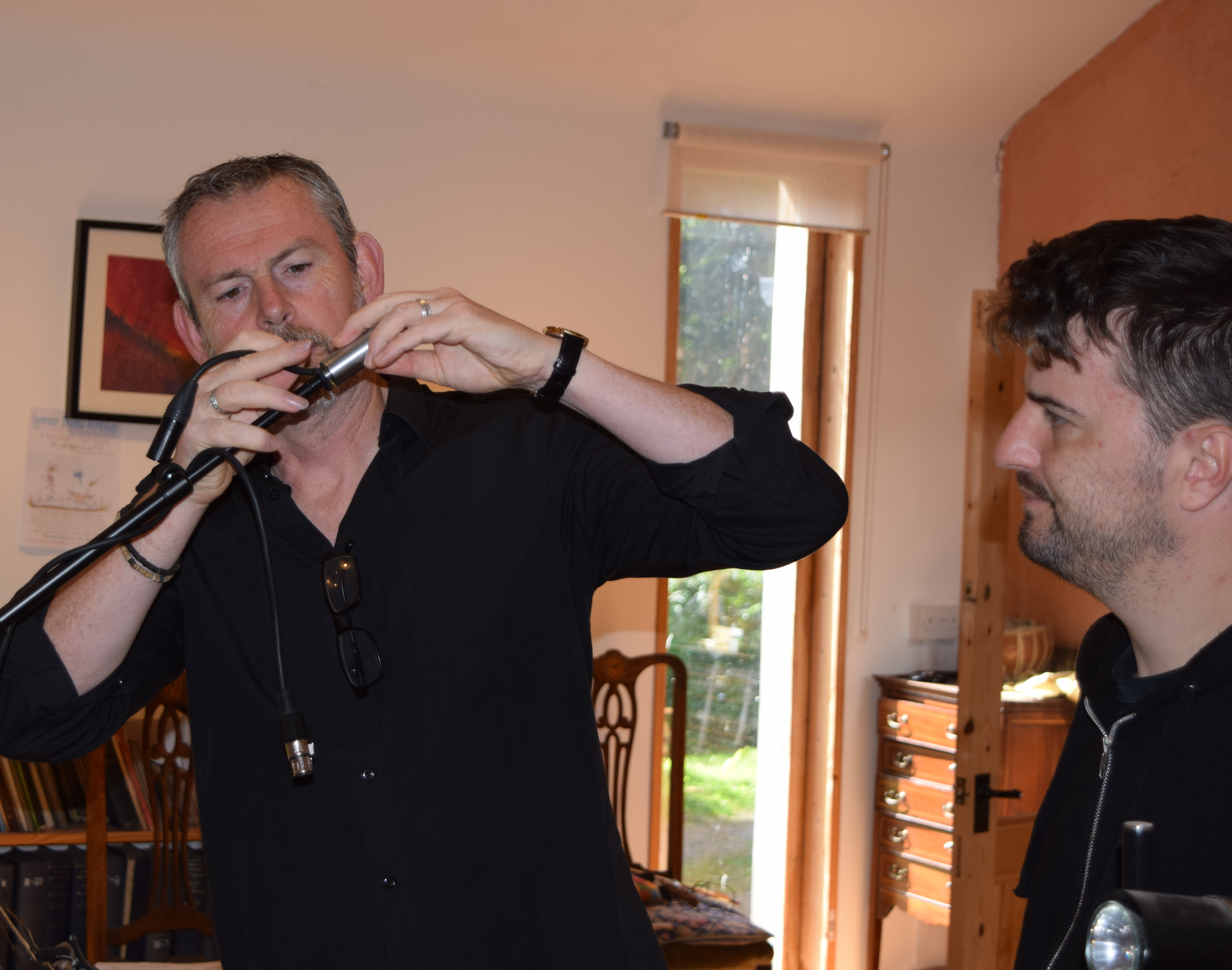 Dylan Fowler rigging mics