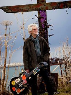 Chris Foster Hadelin English folk album portrait, portrait format colour
