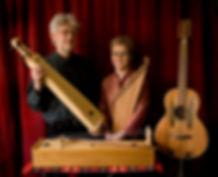 Bára Grímsdóttir and Chris Foster with langspil, fiðla, kantele and guitar