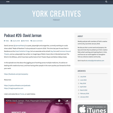 Meet York's Creative Practitioners in York Creatives, Video Podcast