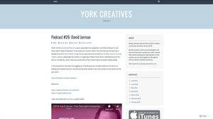 A screenshot of the homepage of the York Creatives Video Podcast