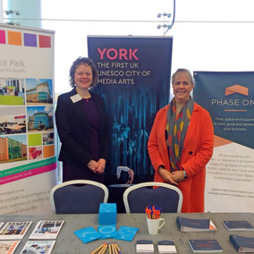 Ann Gurnell and Claire Bennett at University of York careers event