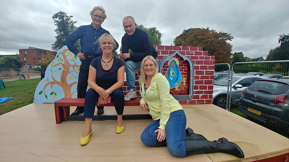 Guild of Media Arts Court Members on 2018 York Mystery Plays Waggon