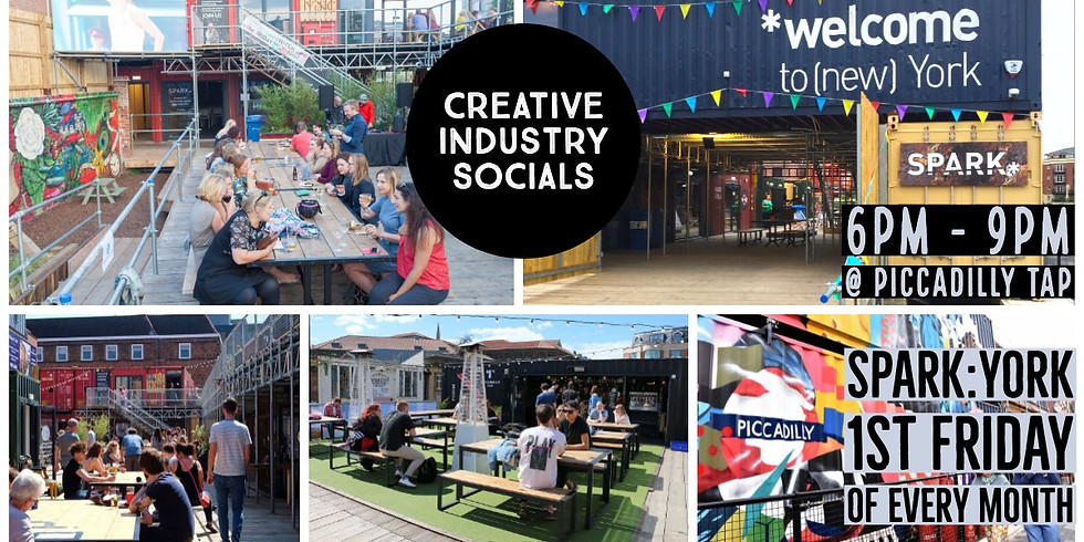 Creative Industry Socials, 1st Friday, every month, 6-9pm