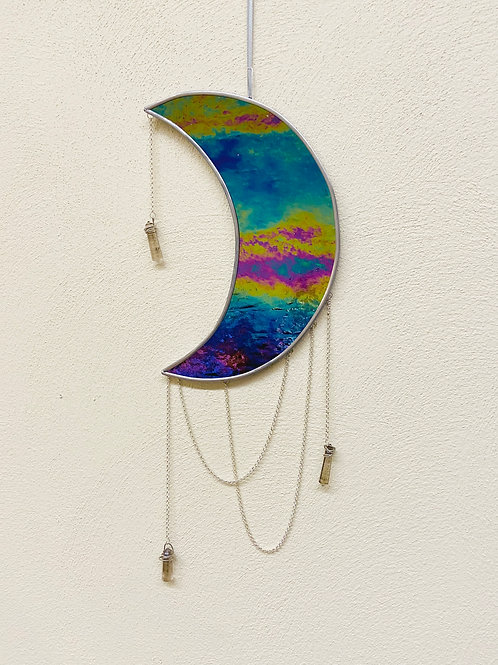 Crystal Hanging Moon