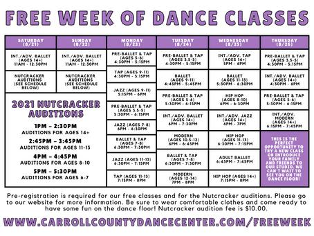 Free Week of Dance Classes