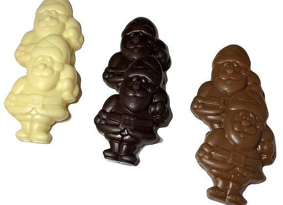 Santa - Solid Chocolate (2 Pieces)