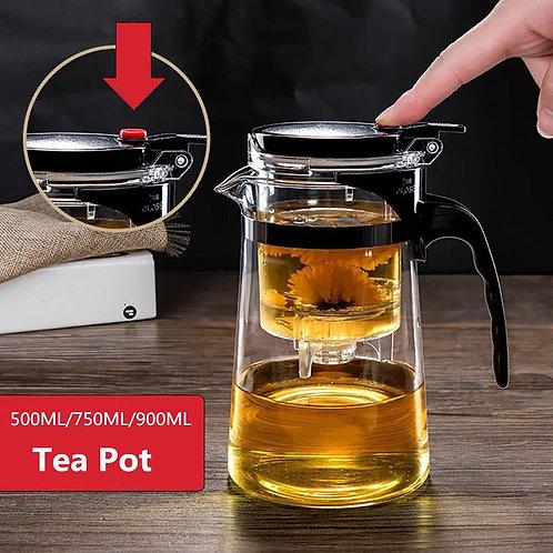 Chinesische Teekannen aus hitzebeständigem Glas
