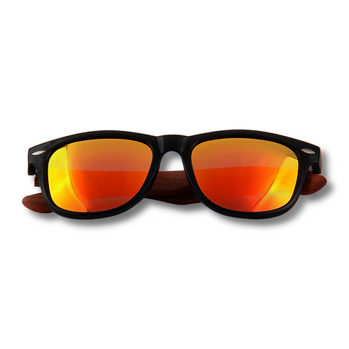Real Rose Wood Classic Wanderer Sunglasses by WUDN