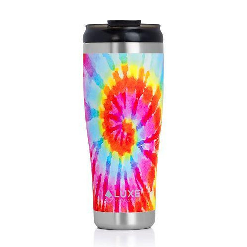**NEW** 20oz Triple Insulated Stainless Steel Tumbler With Screw-On Lid -Tie Dye
