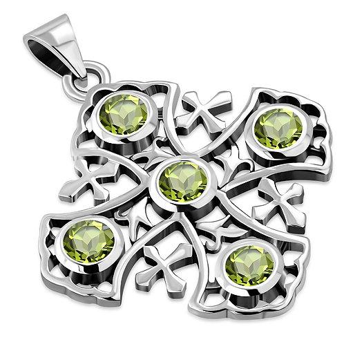 Jerusalem Cross Christian Elegance 925 Sterling Silver Pendant