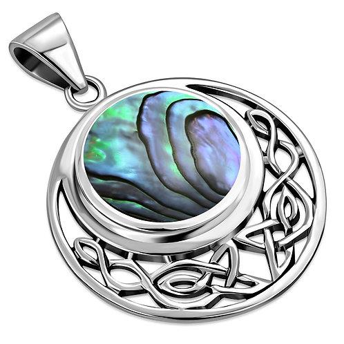 Round Celtic Knot Elegance 925 Sterling Silver Pendant