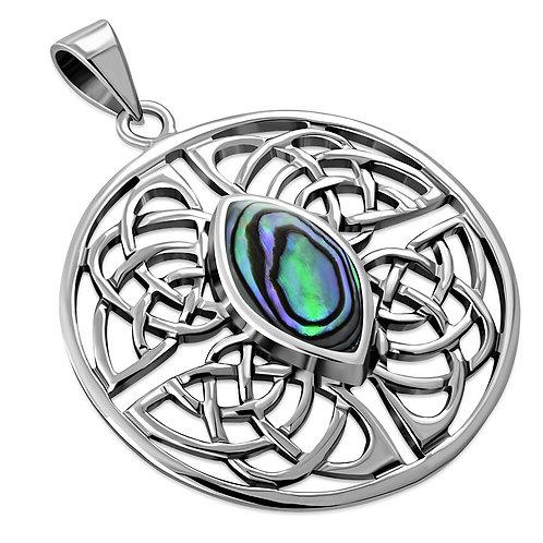 Round Celtic Elegance 925 Sterling Silver Pendant