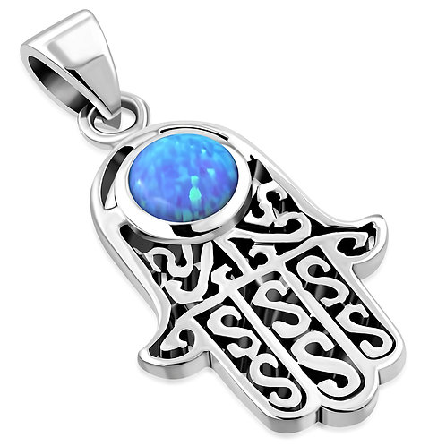 Fatima/ Hamsa Elegance 925 Sterling Silver Pendant