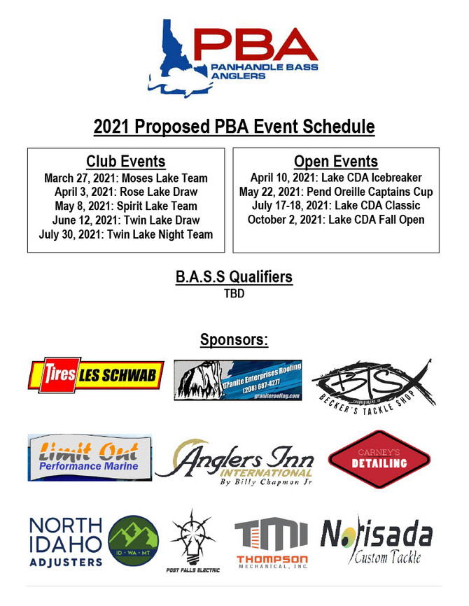 2021 Tournament Schedule is out!!!!