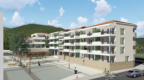 Les Vigneaux, ZAC. 45 logements sociaux et commerces.