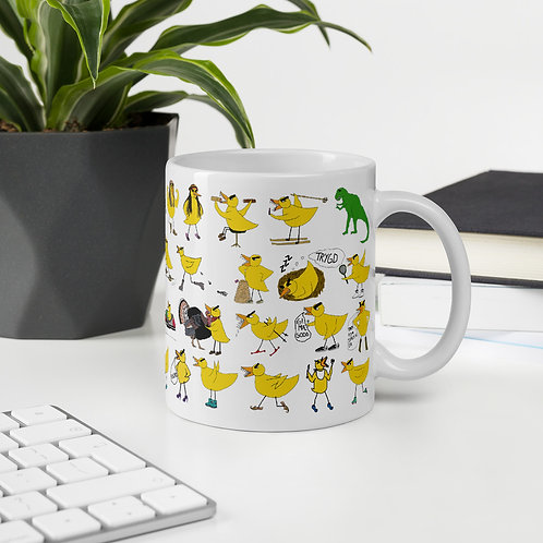 Angry Duck all over print mug