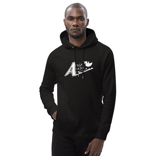 Angry Duck unisex eco black hoodie