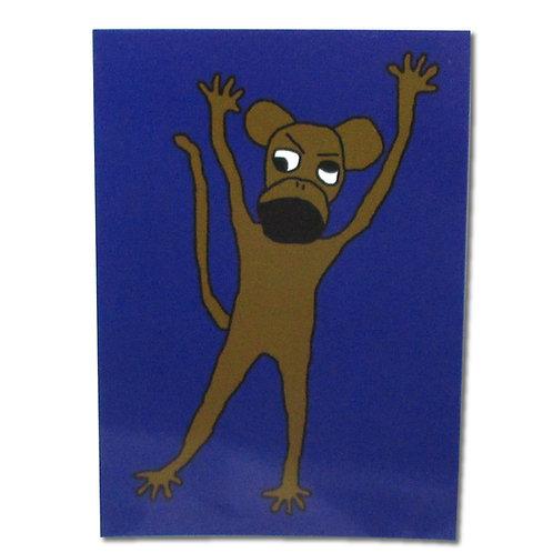 Broken Ape Character Postcard