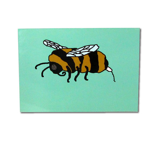 Period Bumble Bee postcard
