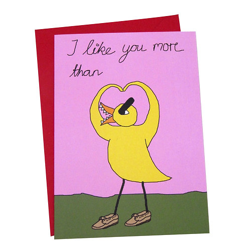 Angry Duck Personalisable V-Day Greeting Card