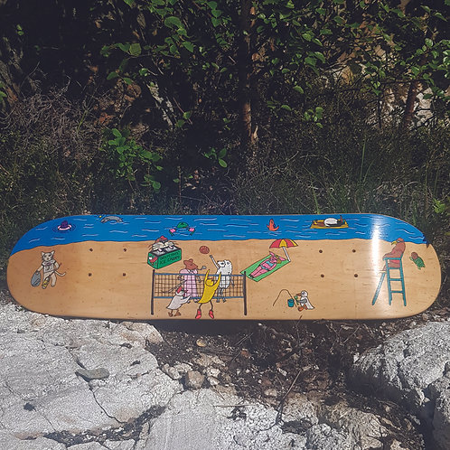 Angry Duck one off hand drawn skate deck