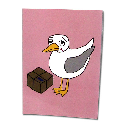 Spotty Delivery Gull postcard