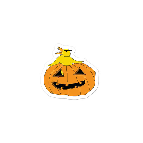 Angry Duck Pumpkin Halloween Bubble-free stickers