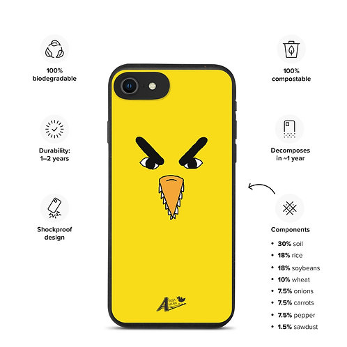 Biodegradable iphone SE iphone 7 iphone 8 case angry duck