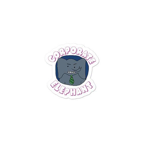 Corporate Elephant Logo Die Cut Bubble-free sticker