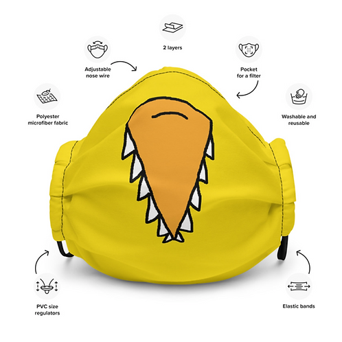 Angry Duck Beak Facemask specs